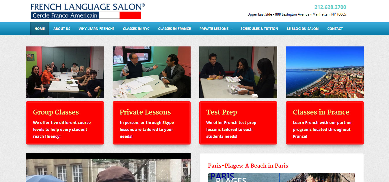 French Language Salon