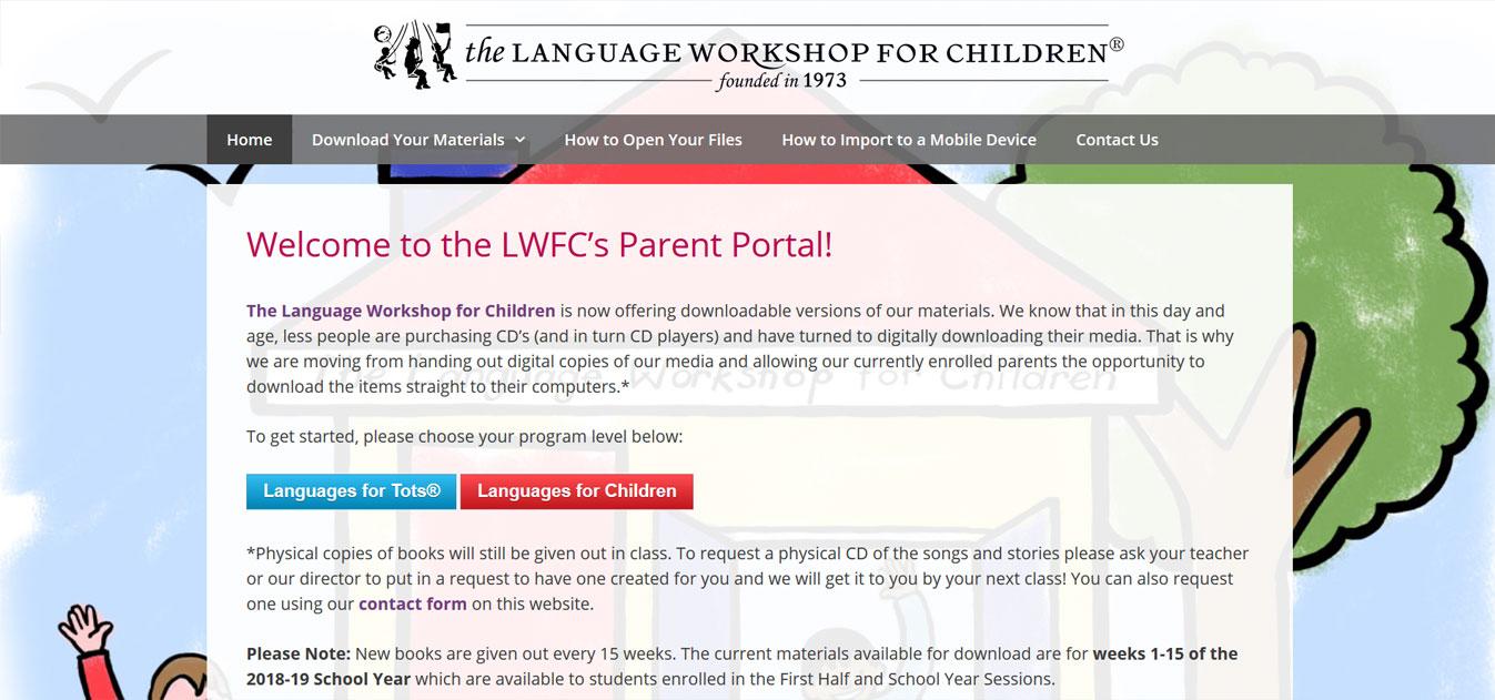 The LWFC Parent Portal